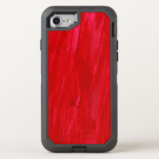 Coque OtterBox Defender iPhone 8/7 Abrégé sur et aquarelle sans couture rouges