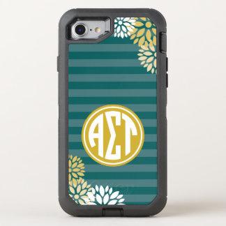 Coque OtterBox Defender iPhone 8/7 Alpha motif de rayure de monogramme de Tau | de