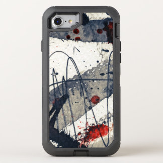 Coque OtterBox Defender iPhone 8/7 Arrière - plan grunge abstrait, texture d'encre