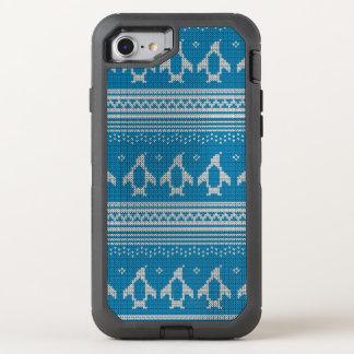 Coque OtterBox Defender iPhone 8/7 Arrière - plan tricoté par bleu