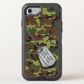 Coque OtterBox Defender iPhone 8/7 Camo vert avec l'étiquette de chien
