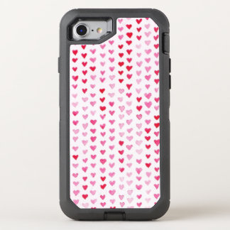 Coque OtterBox Defender iPhone 8/7 Coeurs d'aquarelle