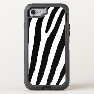 Coque OtterBox Defender iPhone 8/7 conception d'art de zèbre