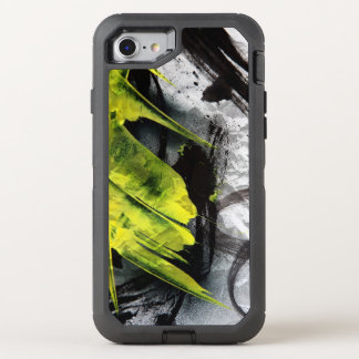 Coque OtterBox Defender iPhone 8/7 Courses expressives de brosse de texture grunge