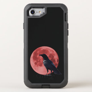Coque OtterBox Defender iPhone 8/7 Défenseur d'iPhone de corneille de lune de sang