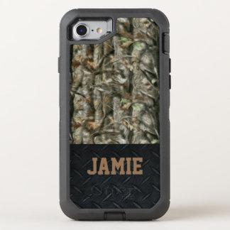 Coque OtterBox Defender iPhone 8/7 Forêt Camo et caisse de plat de diamant noir