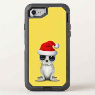 Coque OtterBox Defender iPhone 8/7 Joint arctique de bébé utilisant un casquette de