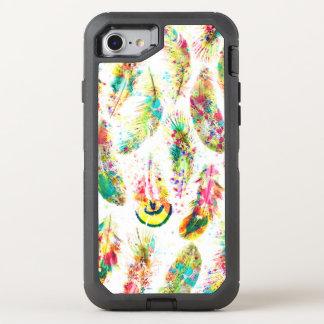 Coque OtterBox Defender iPhone 8/7 Le néon à la mode frais d'aquarelle éclabousse des