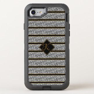 Coque OtterBox Defender iPhone 8/7 Les parties scintillantes argentées noires