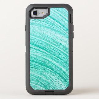 Coque OtterBox Defender iPhone 8/7 ligne incurvée par brosse texture d'aquarelle