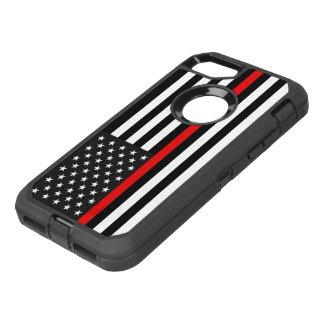 Coque OtterBox Defender iPhone 8/7 Ligne rouge mince drapeau américain
