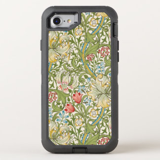 Coque OtterBox Defender iPhone 8/7 Lis d'or de William Morris floral