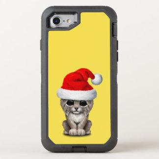 Coque OtterBox Defender iPhone 8/7 Lynx mignon CUB utilisant un casquette de Père