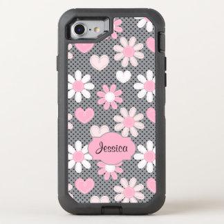 Coque OtterBox Defender iPhone 8/7 marguerites de l'iPhone 6/6s  , pois, coeurs