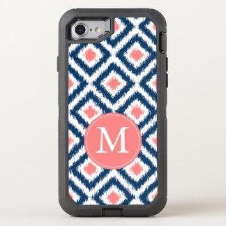 Coque OtterBox Defender iPhone 8/7 Marine et motif de corail d'Ikat décorés d'un