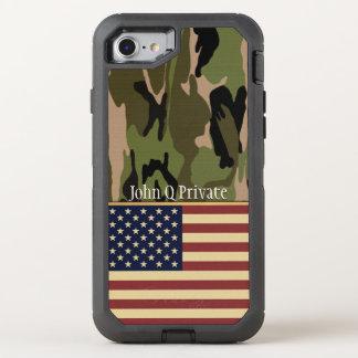 Coque OtterBox Defender iPhone 8/7 Modèle nommé de Camo de drapeau des Etats-Unis