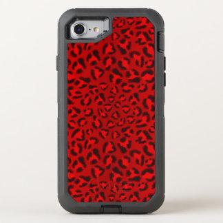 Coque OtterBox Defender iPhone 8/7 Modèle rose de texture de léopard