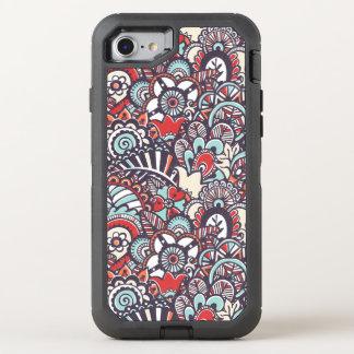 Coque OtterBox Defender iPhone 8/7 Motif floral de griffonnage de Paisley