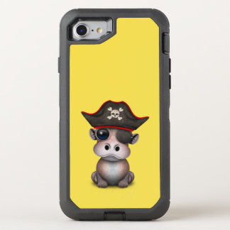 Coque OtterBox Defender iPhone 8/7 Pirate mignon d'hippopotame de bébé