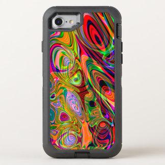 Coque OtterBox Defender iPhone 8/7 Pirouettes abstraites fluorescentes psychédéliques