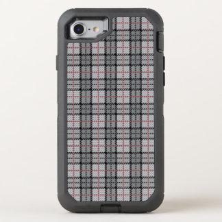 Coque OtterBox Defender iPhone 8/7 Plaid de pixel dans le gris avec la rayure rouge