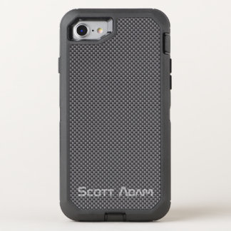 Coque OtterBox Defender iPhone 8/7 Polymère noir et gris fait sur commande de fibre