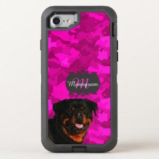 Coque OtterBox Defender iPhone 8/7 Rottweiler sur le rose