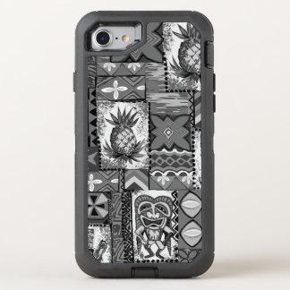Coque OtterBox Defender iPhone 8/7 Tapa hawaïen de cru d'ananas de Pomaika'i Tiki