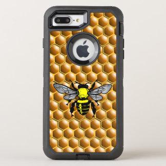 Coque OtterBox Defender iPhone 8 Plus/7 Plus Abeille de miel sur le cas d'apiculteur de nid