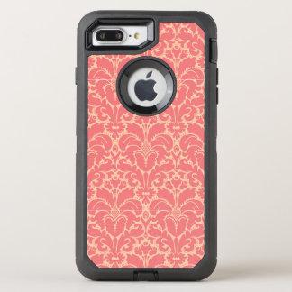 Coque OtterBox Defender iPhone 8 Plus/7 Plus Arrière - plan baroque de damassé de style