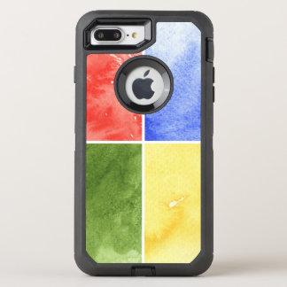 Coque OtterBox Defender iPhone 8 Plus/7 Plus arrière - plan coloré d'aquarelle pour votre