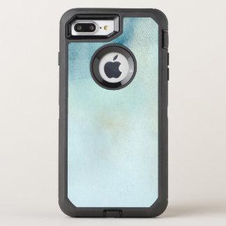 Coque OtterBox Defender iPhone 8 Plus/7 Plus arrière - plan d'aquarelle dans bleu et jaune en