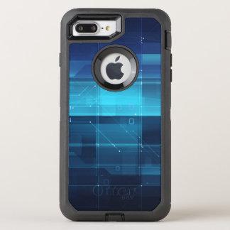 Coque OtterBox Defender iPhone 8 Plus/7 Plus Arrière - plan numérique de pointe