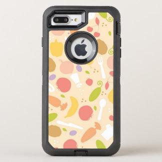 Coque OtterBox Defender iPhone 8 Plus/7 Plus Arrière - plan végétarien de motif de cuisine