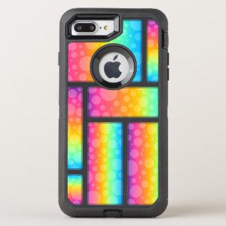 Coque OtterBox Defender iPhone 8 Plus/7 Plus Bulles et motif colorés de Retrangle
