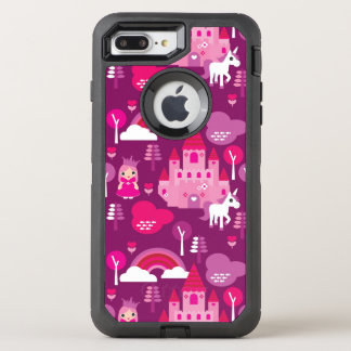 Coque OtterBox Defender iPhone 8 Plus/7 Plus château de princesse et arc-en-ciel de licorne