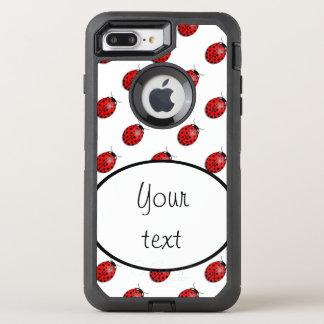 Coque OtterBox Defender iPhone 8 Plus/7 Plus Coccinelles en rouge