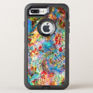 Coque OtterBox Defender iPhone 8 Plus/7 Plus Collage floral vintage sale romantique coloré