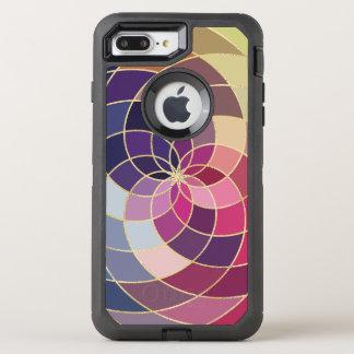 Coque OtterBox Defender iPhone 8 Plus/7 Plus Conception abstraite colorée extraordinaire