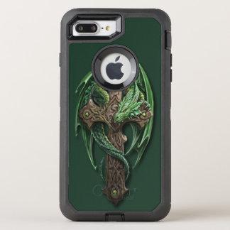 Coque OtterBox Defender iPhone 8 Plus/7 Plus Conception croisée tribale celtique fraîche d'art