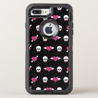 Coque OtterBox Defender iPhone 8 Plus/7 Plus Crânes et coeurs