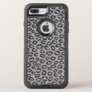 Coque OtterBox Defender iPhone 8 Plus/7 Plus Dentelle nette noire avec le motif de léopard sur