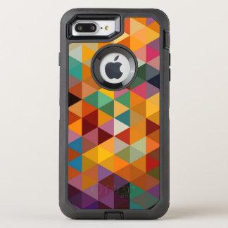 Coque OtterBox Defender iPhone 8 Plus/7 Plus Fond vintage de motif de triangles