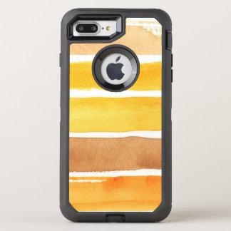 Coque OtterBox Defender iPhone 8 Plus/7 Plus grand arrière - plan d'aquarelle - peintures 3