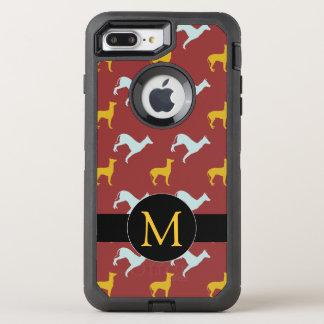 Coque OtterBox Defender iPhone 8 Plus/7 Plus iPhone 2018 de monogramme d'anniversaire de