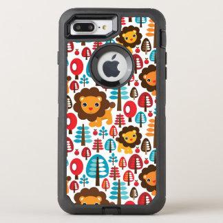 Coque OtterBox Defender iPhone 8 Plus/7 Plus le rétro lion mignon badine l'illustration