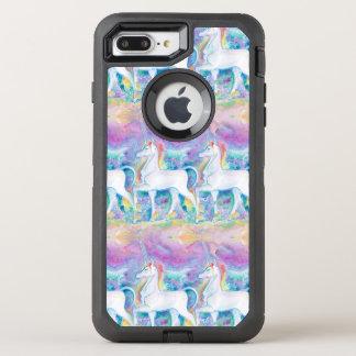Coque OtterBox Defender iPhone 8 Plus/7 Plus Licornes d'aquarelle
