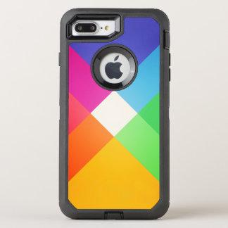 Coque OtterBox Defender iPhone 8 Plus/7 Plus Motif abstrait géométrique coloré moderne