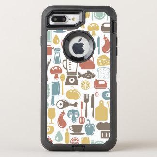 Coque OtterBox Defender iPhone 8 Plus/7 Plus Motif avec des icônes de cuisine