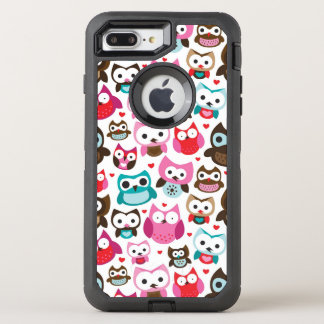 Coque OtterBox Defender iPhone 8 Plus/7 Plus motif coloré de hibou